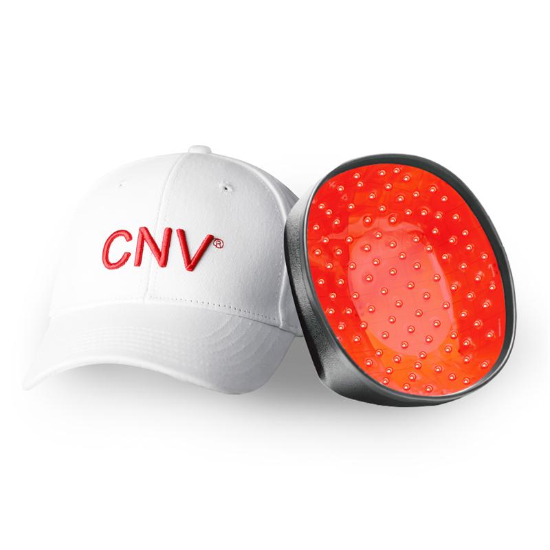 CNV Mobile Laser Therapy Cap Haarwuchs für Männer und Frauen 168 medizinische Laser Weiß